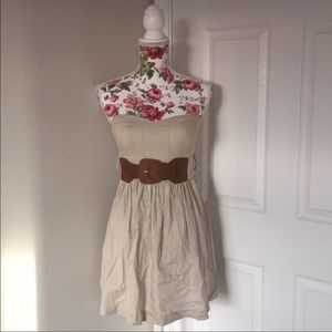 Body Central Strapless Belted Dress size S